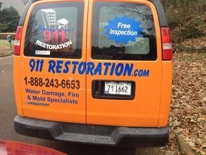 Water Damage Freeburg Rear Of Van At Residential Job