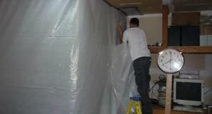 Installation of Vapor Barrier For Mold Eradication