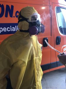 hazmat-suit-water-damage-restoration-van